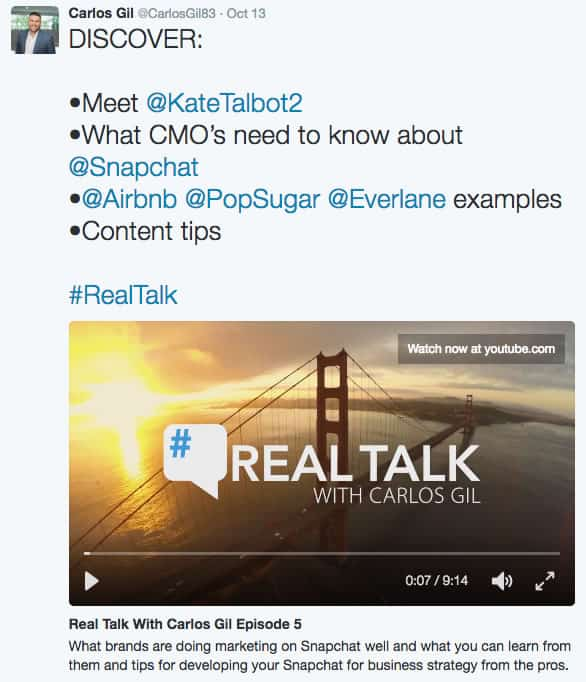 Twitter Cards Video Player type