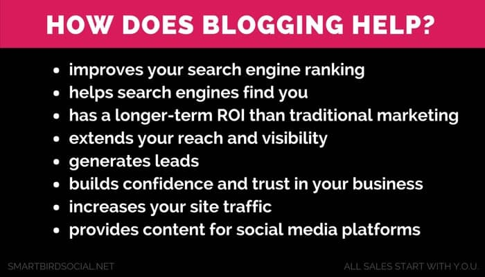 Blogging helps your business in many ways. Hire a blog writer today.