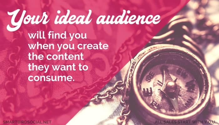 Your custom content attracts your ideal customer.