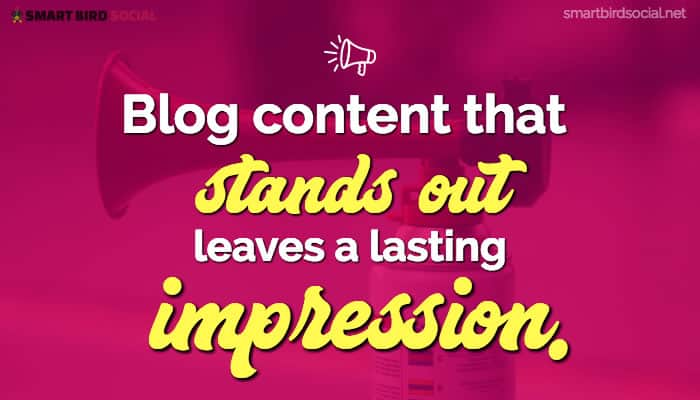 Blogging Business Goals to Improve Your Content Strategy - Stand out from competitors