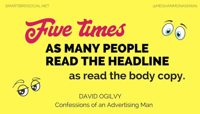 Five times as many people read your headline.